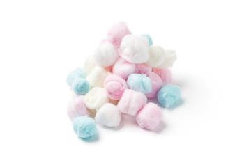 Multicolored cotton balls