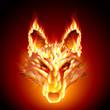 Fiery stallion. Wolf