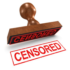 "3d Rubber Stamp - ""Censored"""