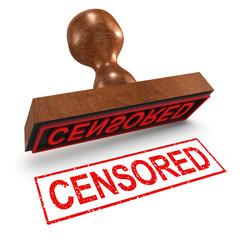 "3d Rubber Stamp - ""Censored"""