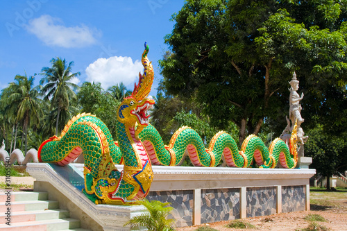 Dragon statue at a temple in Thailand