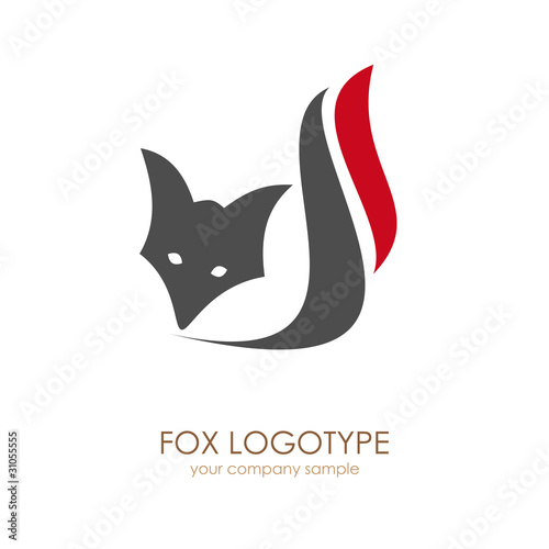 Logo  Fox. Concept of cunning # Vector