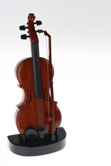 Violin Ornament Upright on Stand