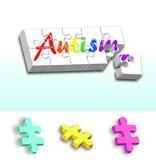 Rainbow Autism puzzle PLUS individual pieces