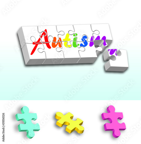 Rainbow Autism puzzle PLUS individual pieces