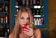 at bar