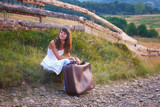 Countryside traveler girl