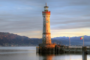 Lindau lighthouse, Bavaria, Germany