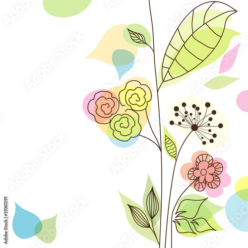 Àbstract floral background, vector © Tolchik