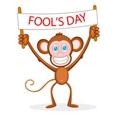 Monkey wishing Fool's Day