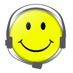 Smiley für Call Center