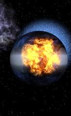 explosion dans l'espace