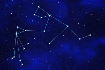 "Star-field background of zodiacal symbol ""Aquarius"""