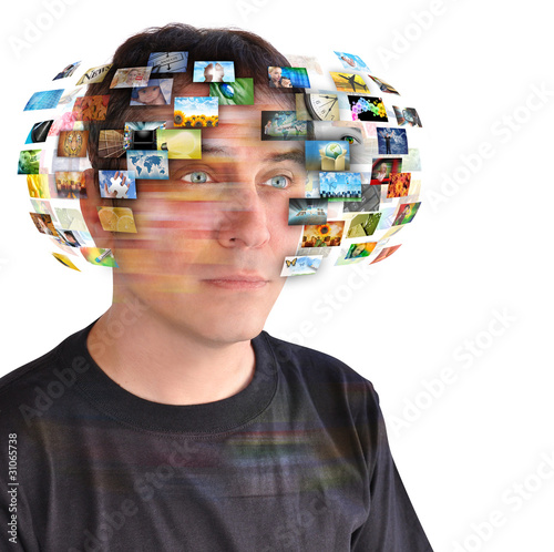 Technology TV Man with Images
