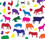 vector farm animals background poster