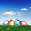 Ostern unter blauem Himmel