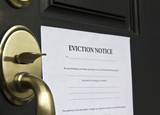 Eviction Notice Letter on Front  Door poster