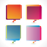 Colorful rectangular speech bubbles