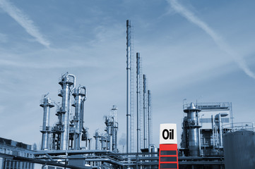 chemical industry and oil-sign
