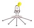 businessman choosing direction