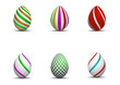 easter eggs with patterns