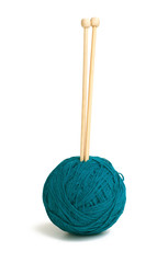 yawn ball and knitting needles