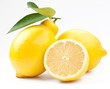 High-quality photo ripe lemons on a white background