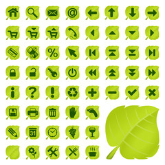 back to nature, 54 Symbole, Icons, Buttons