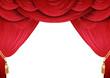 Roter Vorhang einer Bühne