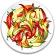 Peperoncini Piccanti nel Piatto-Hot Chili Peppers on Plate