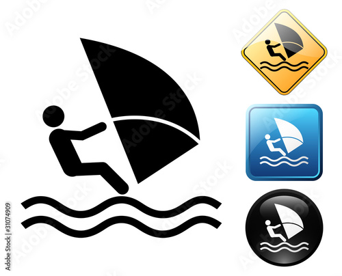 Windsurf pictogram and signs