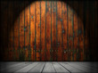 Empty Wooden Room As Background