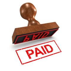 "3d Rubber Stamp - ""Paid"""