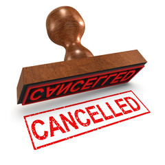 "3d Rubber Stamp - ""Cancelled"""
