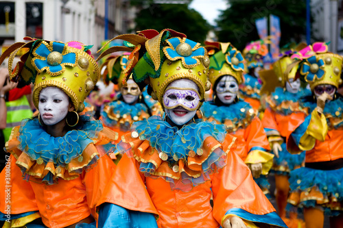 Leinwanddruck Bild Carnavival Masks parade