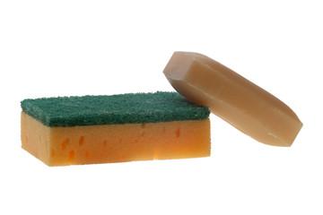 kitchen sponge and soap