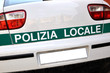 Car of the local police of Lombardy, Italy