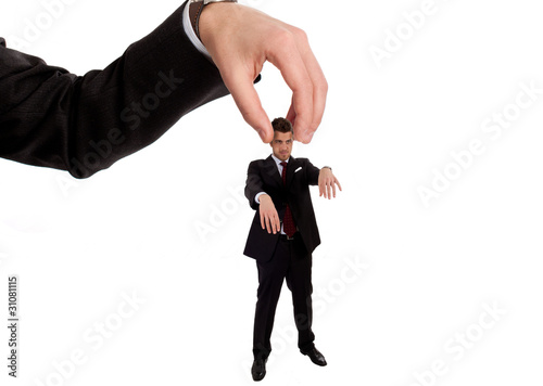 Businessman manipulation