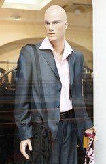 Mannequin in clothes shop