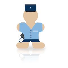 Icônes des métiers : gendarme