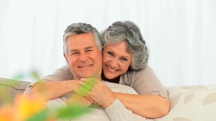 Smiling mature couple