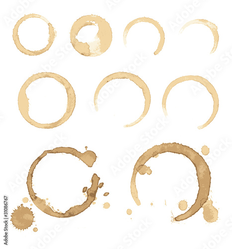 Vector stains of coffee