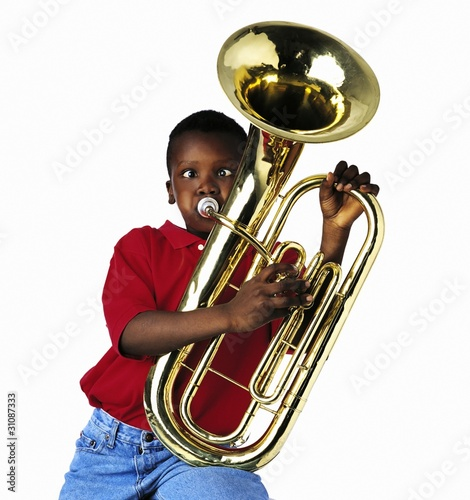 Child Playing Baritone