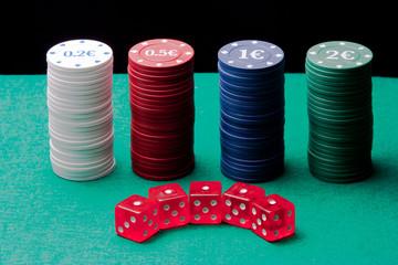 Columns Dice Poker Chips