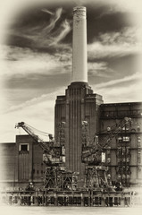 Battersea Power Station in London.