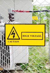 warning sign high voltage power
