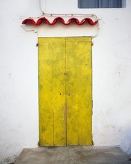Vila D'eivissa, Ibiza, Balearic Islands, Spain; Doorway In Spain