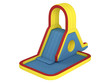 Inflatable children`s slide