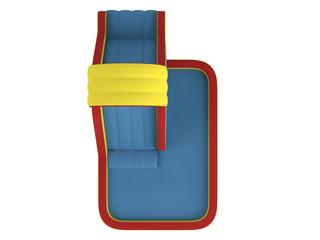 Inflatable children`s slide