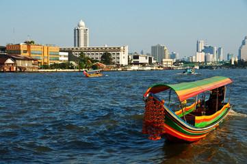 Boat on Chao Phraya river ,Bangkok,Thailand